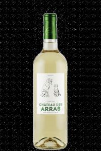 chateau-des-arras-bordeaux-white-wine-bottle-dog-cat-label